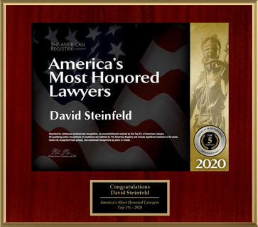 David Steinfeld America's Most Honored Lawyers 2020