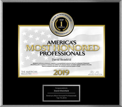 David Steinfeld Top 1% of America's Most Honored Professionals