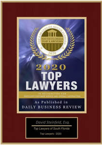 David Steinfeld was named a Top Lawyer in Florida by the Daily Business Review