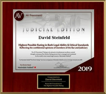 David Steinfeld Martindale-Hubbell Judical Rating 2019