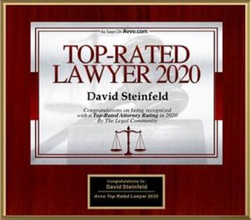 Avvo.com, recognized David Steinfeld as one of its Top Rated Lawyers for 2020
